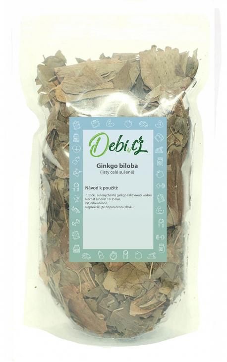 Ginkgo biloba - listy celé sušené