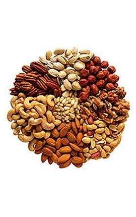 Semena, ořechy, sušené plody